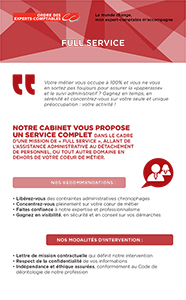 Fiche marketing client : Full service