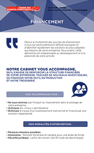 Fiche marketing client : Financement