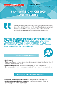 Fiche marketing client : Transmission-cession d'entreprise